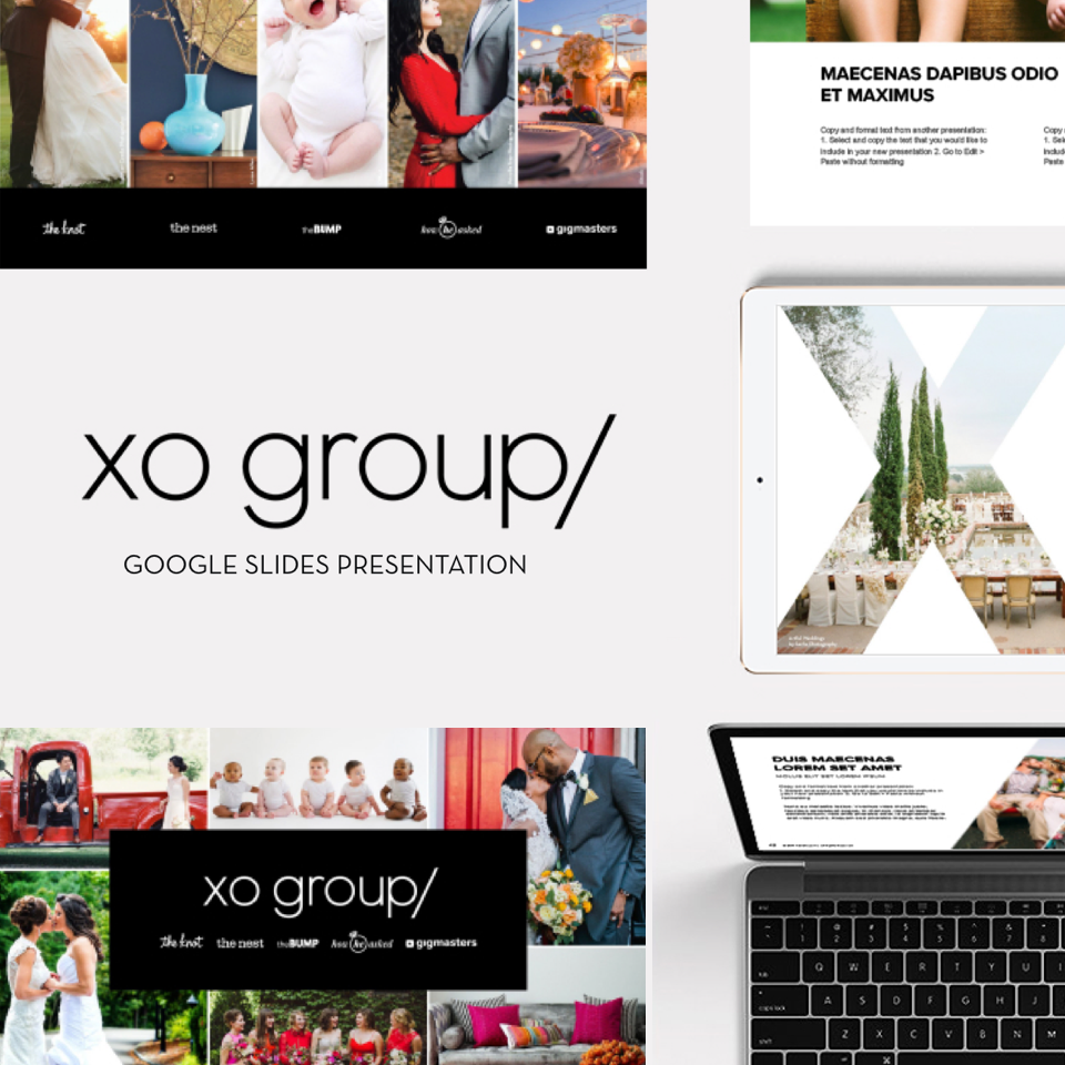 XO Group Presentation Deck Design